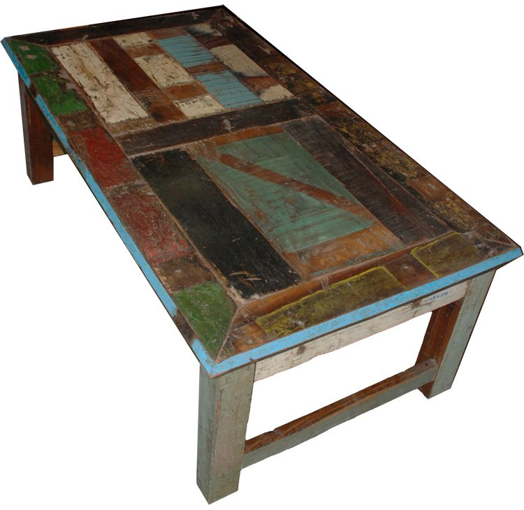 Vintage Multi Color Coffee Table 51w 28d