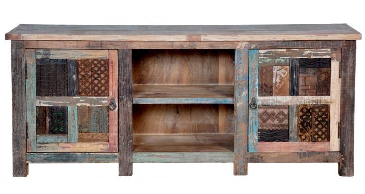 Vintage Print Blooks Plasma Cabinet Aardvark Home Decor